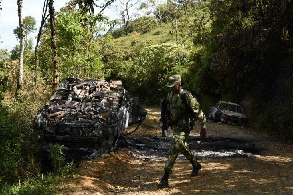 colombiaviolence farcpeacedeal soldier 04292020 1