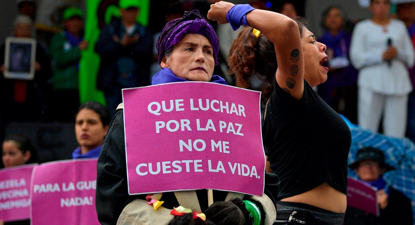 En Colombia, la pandemia aumenta los riesgos para las mujeres líderes sociales