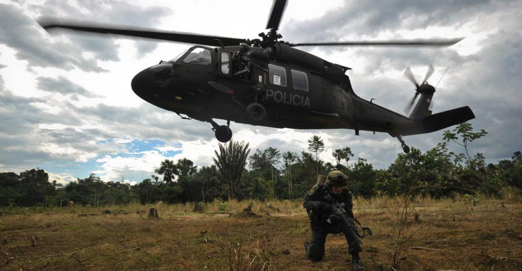 Colombia police coca plantation